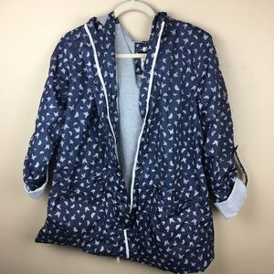 Mossimo | Navy Butterfly Printed Raincoat